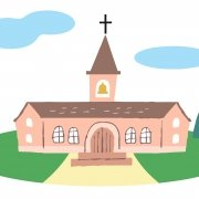 illustration of a church building