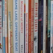 disability ministry books on a shelf