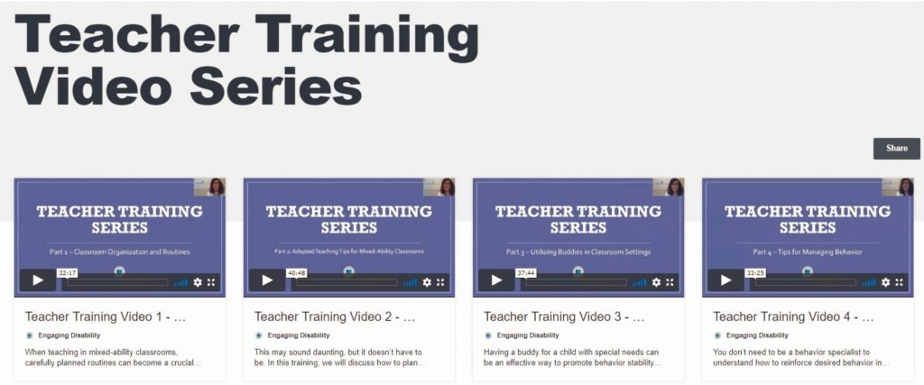 Teacher Training Video Series image