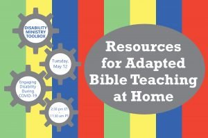 Image advertising Disability Ministry Toolbox on May 12 at 2:30pmET