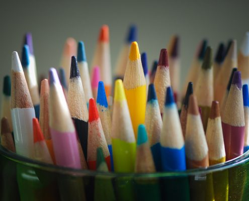 container of colored pencils