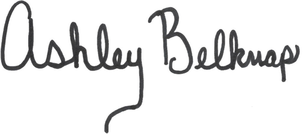 Ashley Belknap signature
