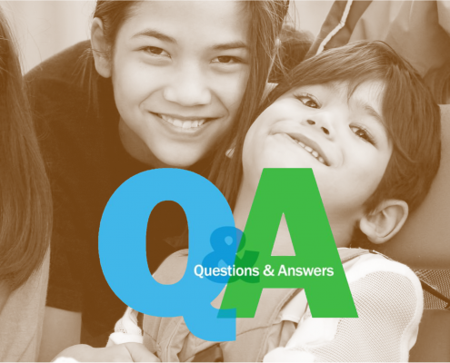 Questions and Answers about siblings with disabilities