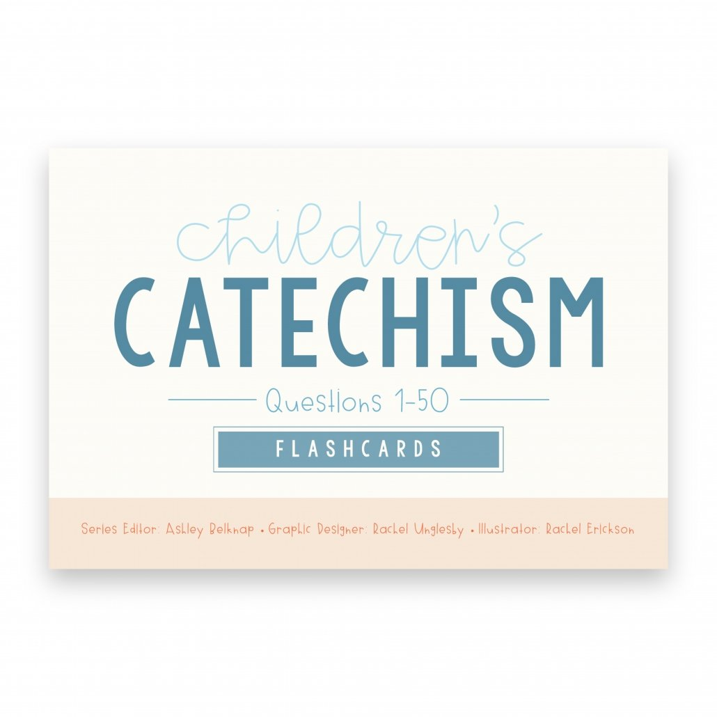 cover of the Children's Catechism Flashcards 1-50