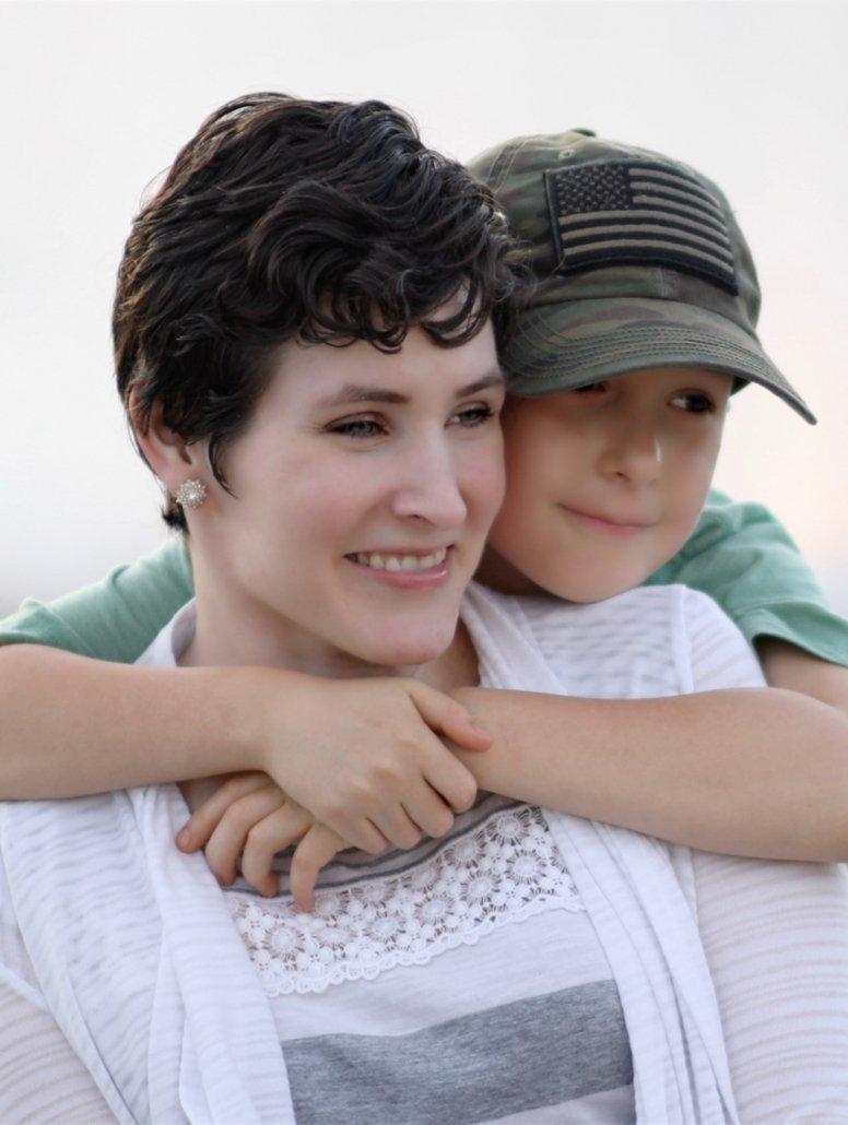 Chelsey Lauren with her son