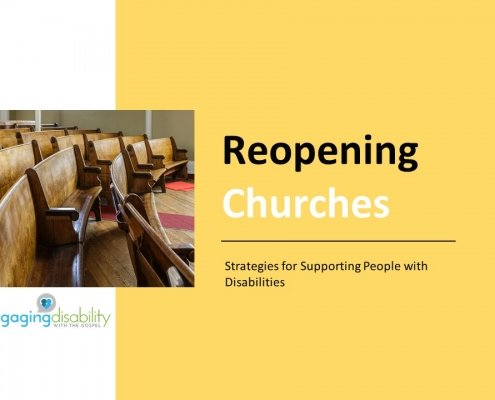 title slide for the Reopening Churches online training