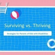 title slide of the Surviving vs. Thriving online training