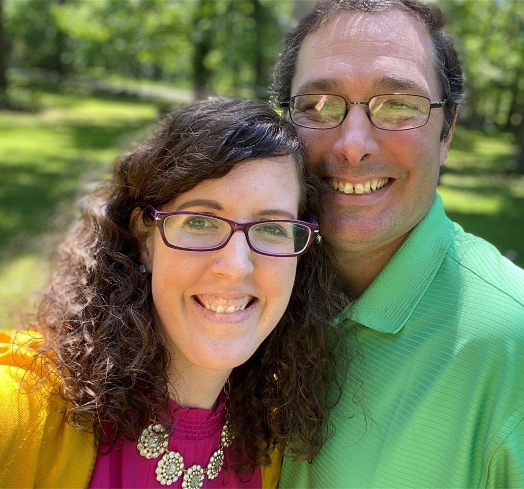 Ashley Belknap and her husband