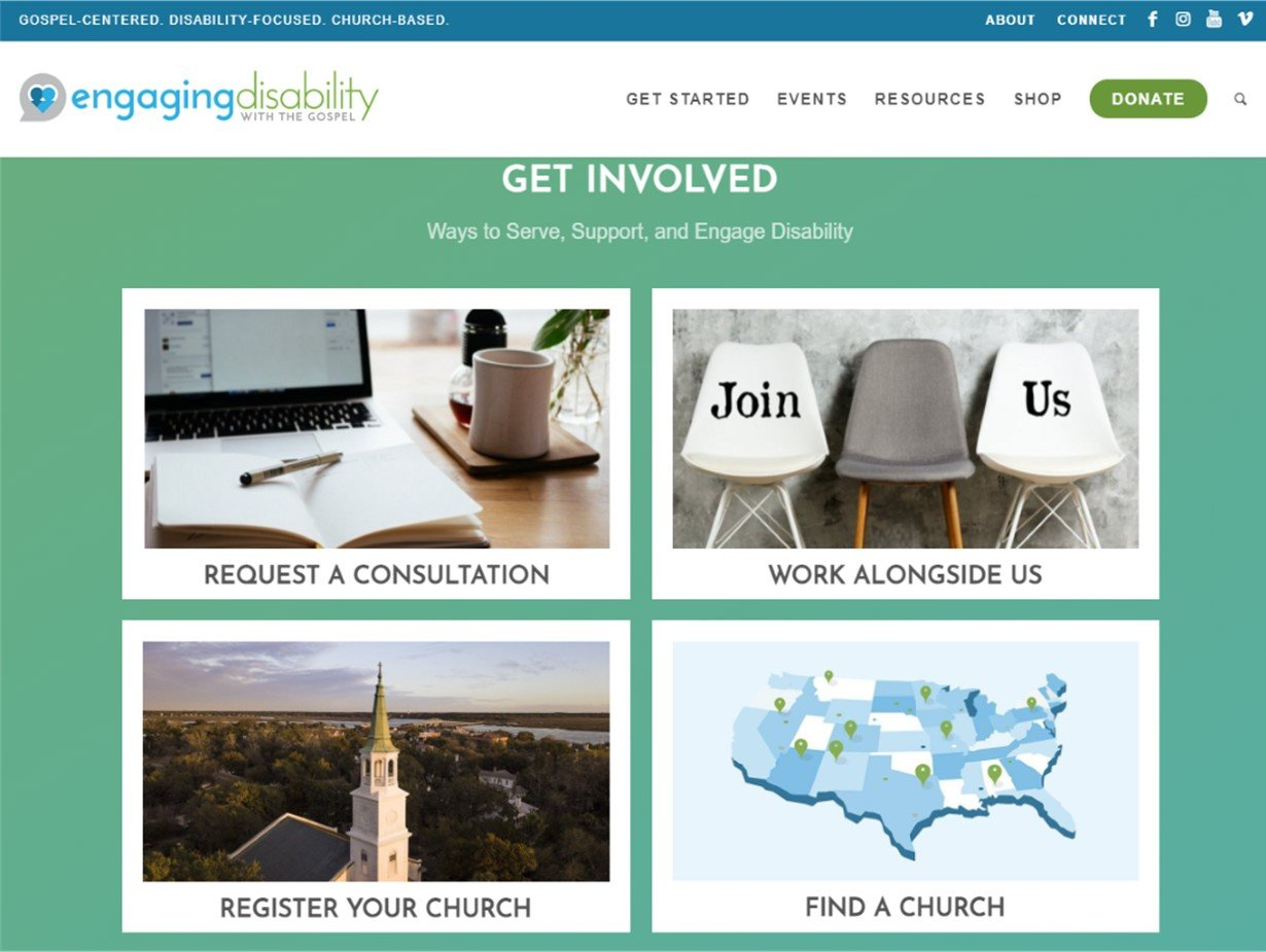 image of the Get Involved section of this website's home page