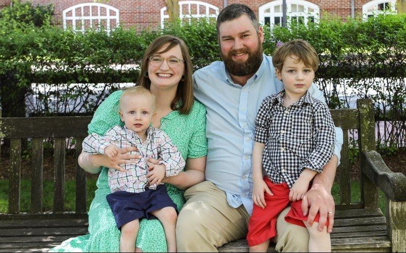 Team member Kara Whittaker and her family