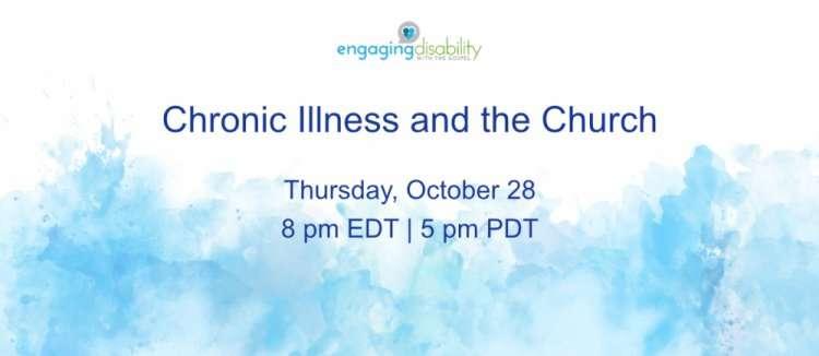 Chronic Illness and the Church webcast image