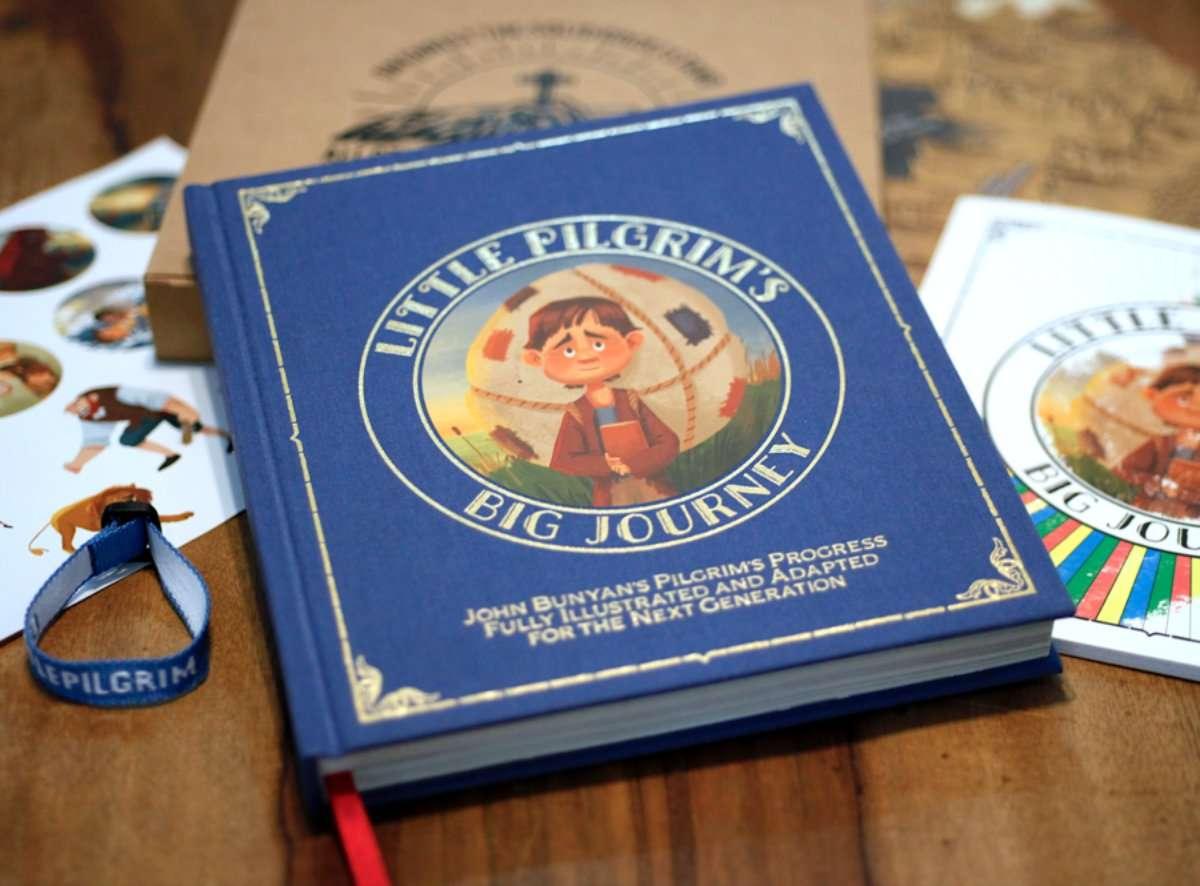 Little Pilgrm's Big Journey set including book, coloring book, stickers and bracelet